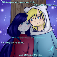 Finnceline: Star Gazing. by kuraikitsune13