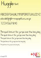Huggle Font by acat48