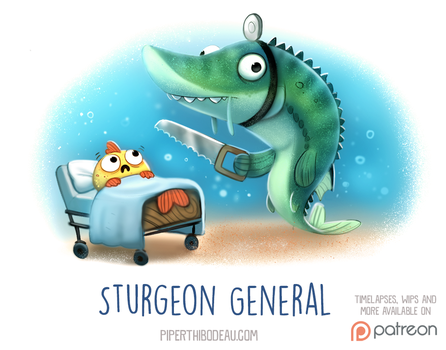 Daily Paint 1529. Sturgeon General by Cryptid-Creations