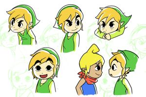 Sketch Dump 25! Toon Link!! by Parimak