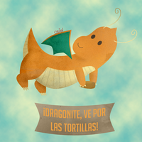Dragonite go for tortillas! by OsielG