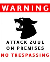 Warning Zuul on site by powerfoxslayer