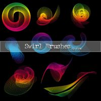 Swirls brushes by Flina-Stock