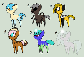 Chibi Pony Adoptables 4 -OPEN- by StormChu