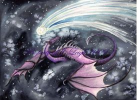 Obsidian Star Dragon by JLDragonfly