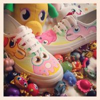 Moshi Monsters Moshlings Custom Vans by VeryBadThing