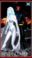 MC: Emma Frost and Cyclops by 3DNDC