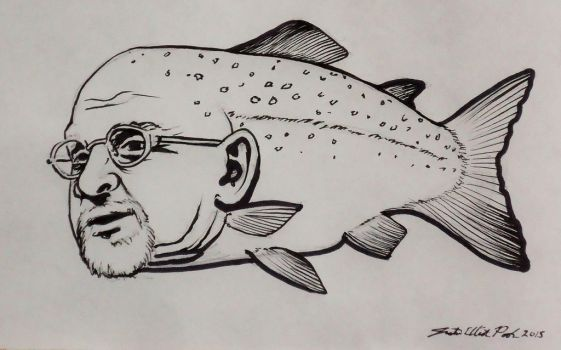 Salmon Rushdie by mouseshadow