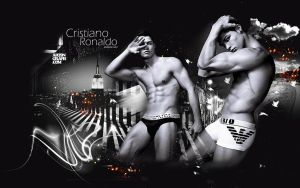 Wallpaper Cristiano Ronaldo 2 by shad-designs