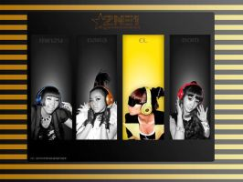 2NE1 Wallpaper by browneyedfairy23