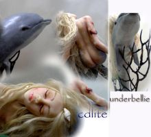 Wounded mermaid dolphin detail by cdlitestudio