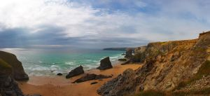 Bedruthan Steps Cornwall by runique