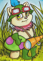 Teemo Marker Card by reaperfox
