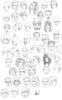 The 450th Head Sketches by M053AB