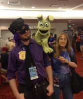 Plushtrap makes another friend(?) at Dragoncon by Negaduck9