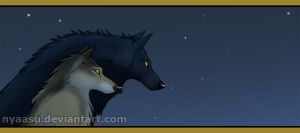 Pair of Wolves for OllyOliver by Nyaasu