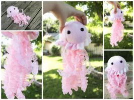 Pink Jellyfish Plushie by BeeZee-Art