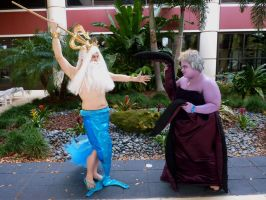 Ursula and King Triton -Undersea Battle Begins- by stormymoorecosplay