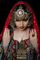 Afghan Girl - Kuchi headpiece by Apsara-Stock