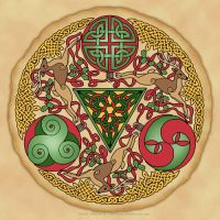 Celtic Reindeer Shield by foxvox
