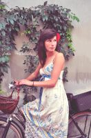 evening with bike by lidia-art