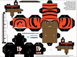 Solomon Wilcots Bengals Cubee by etchings13