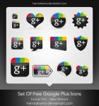 Free Google Plus Icons Set by hamzahamo