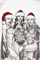 CHISTMAS DC GIRLS !!! by carlosbragaART80