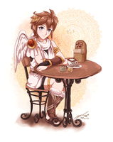 Pit in Cafe by Mimirouru