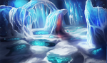 The Frozen Cave by Sandramalie