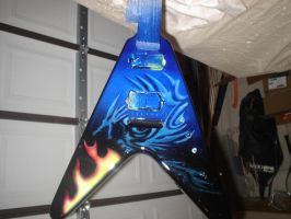 airbrushed guitar by NeoGzus