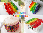 Rainbow Layer Cake by lotsofmoxy