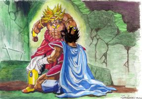 Brolly VS Vegeta King by Zackary