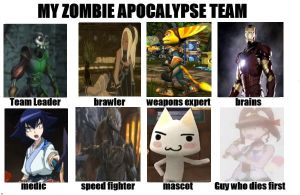 My Zombie Apocalypse Team - Team Mystic Domains by Kawaii-Nekochara