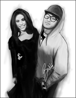 Dinah Jane and Siope Folau - Digital Drawing by BrunaDM