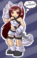 Chibi kitty cat Katarina by RinTheYordle