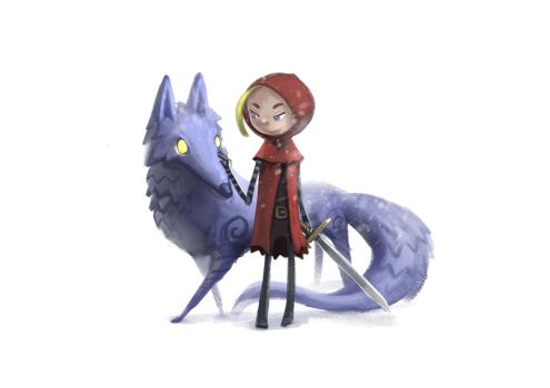 Red riding hood by Delun
