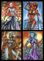 STAR WARS THE BAD PERSONAL SKETCH CARDS by AHochrein2010