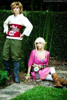 Skyloft Link and Zelda by NiGHTmaren-Cosplay