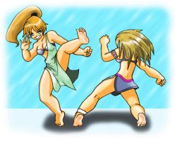 gals in action pose 1 by hect06