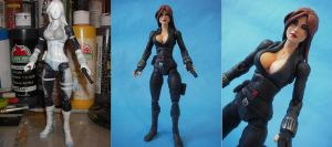 Custom Marvel Legends Black Widow WIP by cusT0M