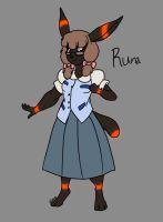 Pokemorphs-Runa the Umbreon by Inkblot-Rabbit