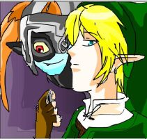 link and midna by JM-twilight