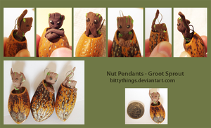Nut Pendants - Groot Sprouts - SOLD OUT by Bittythings