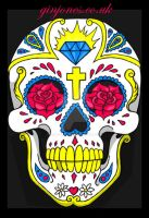 sugar skull vector by GinJones