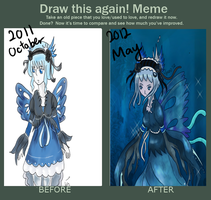 Draw This Again Meme: DAT BLUE GAL by Aestoria
