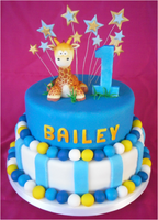 1st Birthday Bailey by Little-M-Cakes