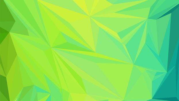 Abstract Low Poly Wallpaper #1 GREEN by TheArtOfPoly