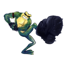 BattleToad Kick by Kna