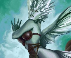 MtG Online- Diamond Faerie by UdonCrew